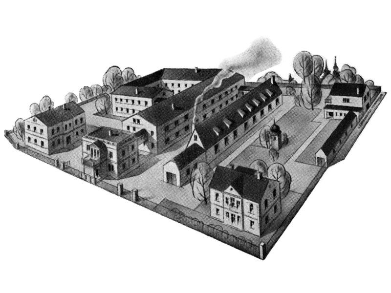 Betriebsgelände – historische Ansicht