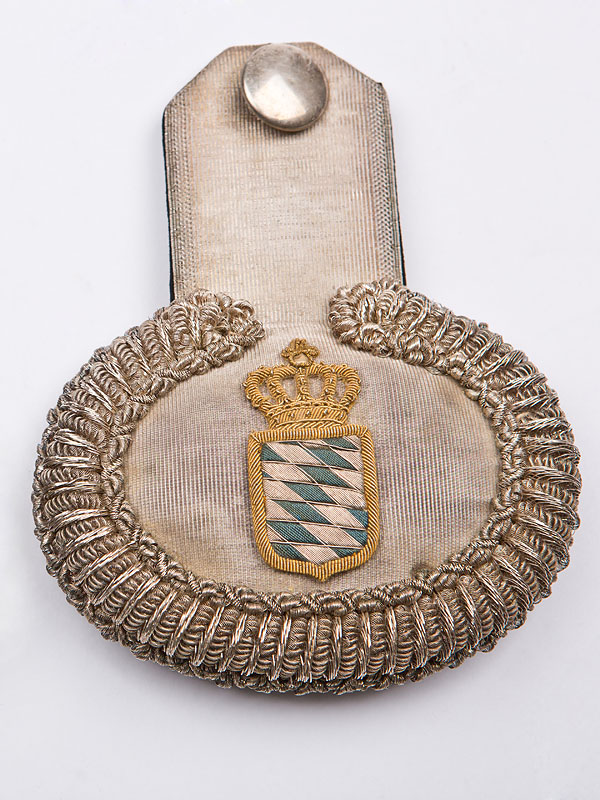Epaulette of a high official at the court of King Ludwig II.- about 1880