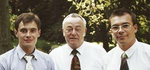 f. l. Christopher Raab, Klaus Raab, Jörg Raab
